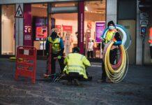 Les chantiers d'installation de la fibre optique crée de nombreux emplois